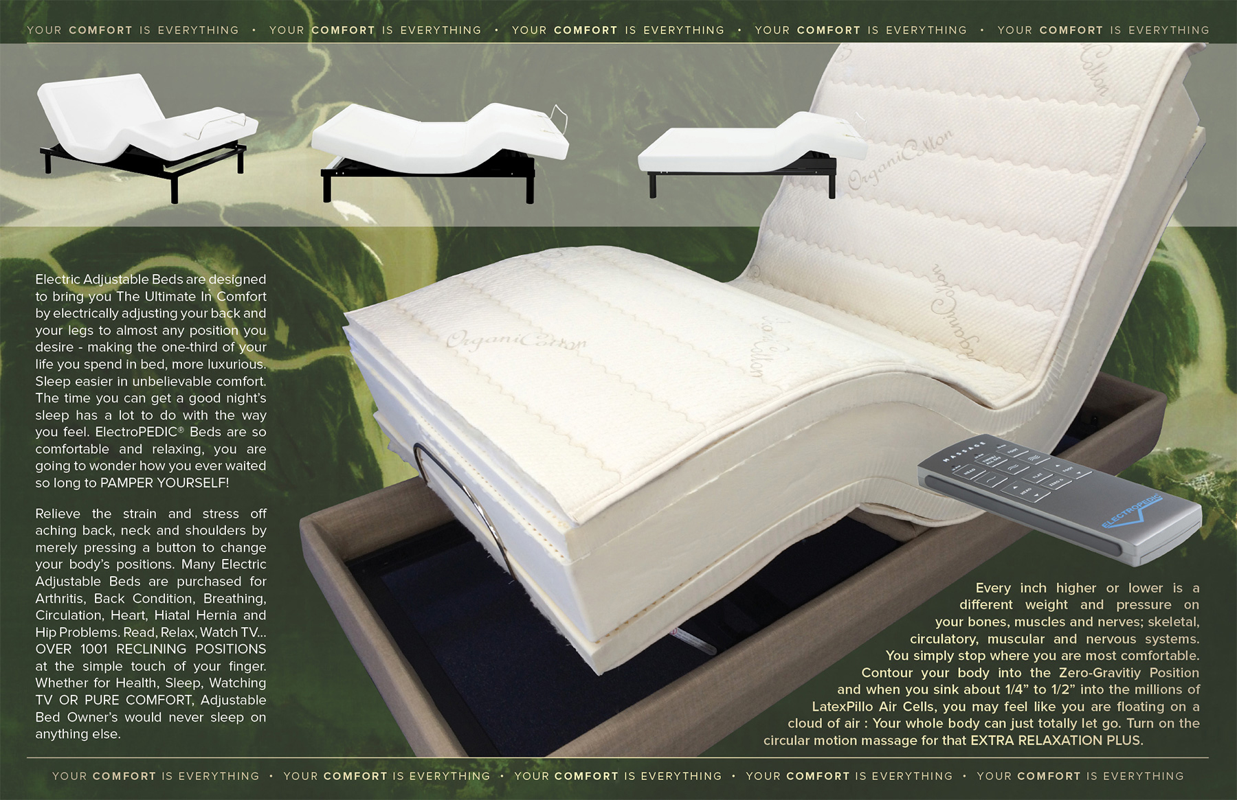 AZ organic natural adjustable beds